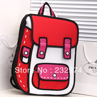 Hot-selling top cartoons bag 2d stereo school bag 3d backpack school bag women's handbag m-03