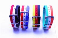 Wholesale 10pcs/lots High quality 20MM Colorful straps waterproof nylon Fashion watch straps