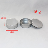 50g  empty cream aluminum jar / container for lip gloss  storage  , hand cream containers / bottles ,1.7oz metal container