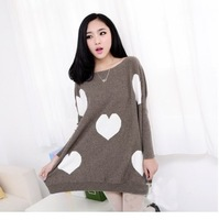 Spring and autumn maternity clothing autumn fashion plus size love print rabbit hair knitted top maternity sweater