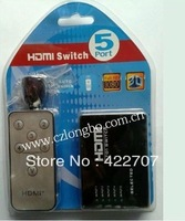 5 way port Mini HDMI Switcher Support 3D auto switch