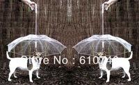 Wholesale - Petumbrella pet dog umbrella umbrella pet raincoat dog raincoat teddy is small dogs