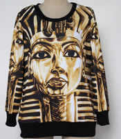 2013 Women Men Fashion Hoodies King Tut Sweatshirts digital printed Pullover Sport suit  3D galaxy sweatshirts