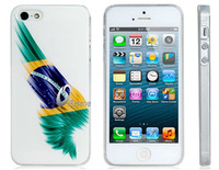 Stylish Brazil National Flag Print Plastic Case for iPhone 5/5S  LIP-3873D