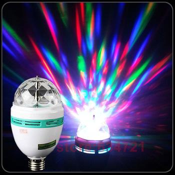 E27 3W LED Mini Crystal Magic Ball Stage Light Laser Light For  KTV Room Lights Colorful Lights