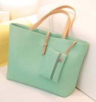 17 color Free Shipping 2014 Fashion Lady handbag candy color Women's Messenger Bags women leather handbags