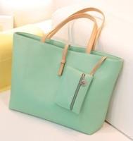 17 color Free Shipping 2015 Fashion Lady handbag candy color Women's Messenger Bags women leather handbags
