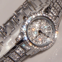 2013 Hot Selling Austria Crystal Dazzle Luxury Wristwatches,Lady Rhinestone Watches Diamond Sparkle Female Watch Bracelet B06