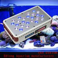 Free shipping 12000K:460NM 1:1 Dimmable Aquarium Led Light Artemis 24x3W Sunrise Sunset Programmable Remote Coral Reef