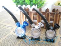 Free shipping 5pcs/lot  Fashion barrel shape water Pipe wholesale metal smoking pipes Christmas Gift