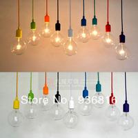 Free shipping High quality eco-friendly multicolour silica gel lamp holder pendant light lamp diy lamps light bulb lamp bases