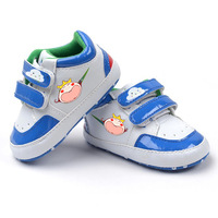 Baby boys blue sports casual shoes soft sole antiskid first walkers suitable for pre-walkers infant branded shoes K80
