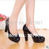 Fashion lady platforms shoes pump women shoes OL patent leather shoes wholesales women pumps