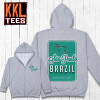 2014 KKL Unique Designer Brand Graphic Printing Zip up College Hoodies And Sweatshirt For Men Women Free Shipping Brizil