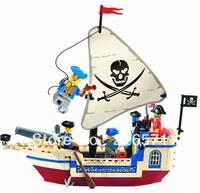 Free Shipping Enlighten Child designer 304 corsair pirates ship toys Building Block Set Brick Toy Toys for kid 3D Jigsaw