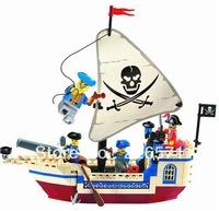 Free Shipping Enlighten Child designer 304 corsair pirates ship toys Building Block Set Brick Toy Toys for kid 3D Jigsaw