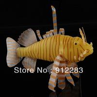 Fish Tank Artificial Fake Lionfish Ornament Decoration Yellow, Aquarium Artificial, Aquarium Ornament SZ044