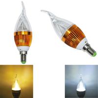 LED E14  CREE Warm&Cool white Golden Candle Candelabra light lamp bulb Globe 6W 85-265V