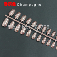 Nail tips for Finger 500 tips/bag Plating Metal tips Good Quality  Free shipping by china air mail