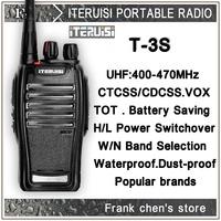 Iteruisi Portable Radio 5W UHF Band Two-Way Radio T-3S Walkie Talkie ITERUISI Free Shipping