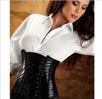 Hotsell Black Leather Underbust Corset  Hotsell Black Leather Underbust Corset Free Shipping