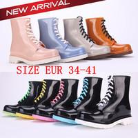 Transparent Crystal Women Rain Boots Rubber Boots Women's Rainboots Women's Shoes Size 41 Sapatos Femininos