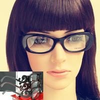 2014 Hot Sale Promotion Freeshipping Oculos Brand Clouds Women Optical Glasses Frame Plain Glass Big Box Fashion Eyeglasses