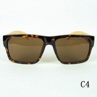 2014 New Cool Bamboo Sunglasses Outdoor Unisex Wooden Glasses Vintage Big Square Eyewear Windproof UV400 Lenses