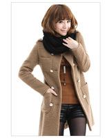 Fashion women inner coat is long wool coat