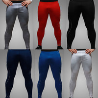 Brand NewMen Athletic Sports Pants Tight-fitting Gym Trousers Leg Elastic Sportwear Gym Jog Training Pants