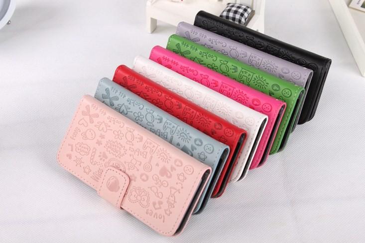 Lopez Wallet Magic Girl Magnet Flip left right open PU leather case Motorola Razr D1 XT918 XT916 5colors
