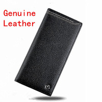 Free Shipping Vintage Man's Purse medium Long Design Genuine Leather Handbags Fashion Brand wallet