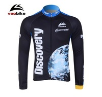 DISCOVERY Veobike Fleece cycling jersey long sleeve Cycling jacket winter thermal fleece cycling clothing Free shipping