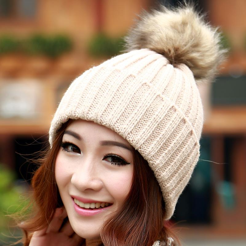 Женская зимняя шерсть шляпа корейской версии