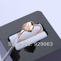 RR146/Wholesale Newest Fashion Design Heart Crystal Charm 18k Rose Gold Ring Jewelry For Women,High Quality,FREE SHIPPING!