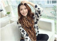 Free shipping 2013  New Style Fashion Hot Leopard Scarf Women Warm animal print Leopard favorite super star shawl