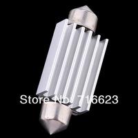 "50 pcs/lot 41mm 1.72"" 8 SMD 5050 CANBUS White Car LED Interior Dome Festoon Light Bulb with Heat Sink DC 12V Free Ship"
