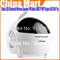 Brand New Sale Robot LED Bluetooth Wireless Speaker FM Radio USB/TF MP3 Player AUX Gift Toy