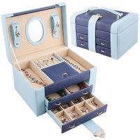 Jewelry box princess fashion double jewelry box jewelry storage box accessories storage box wedding gift