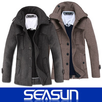 2014 autumn/winter new men's long wool coat ,Trench coat male ,Korean Outerwear Mens Coat Winter Overcoat