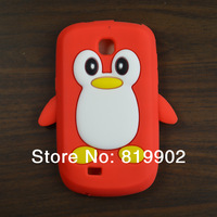For Samsung Galaxy Mini S5570 silicone, Colorful 3D Penguin Silicone Case Cover for Samsung Galaxy Mini S5570