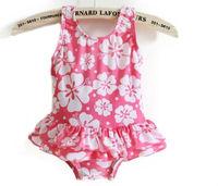 Retail! 1PC free shipping one-piece swimwear baby girl flower dress sunshine baby swimsuit little girls beach wear