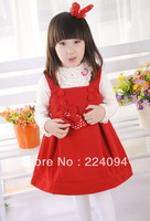 freeshipping Children's clothing 2013  girls princess dress one-piece dress tank dress 2-8years old