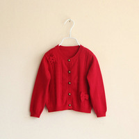 SW3098  children's cotton  sweater cardigan /Girls sweater, , kids cardigan coat, girls bow sweater