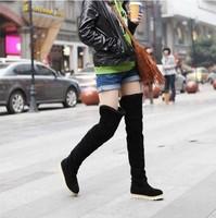 Free shipping Hot Sell Women's Fashion Shoes, Over the Knee Flat Heel Warm Winter Long Boots KE060