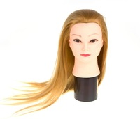 Cheap 100% High temperature chemical fiber training mannequin head,makeup mannequin head,cosmetology mannequin heads