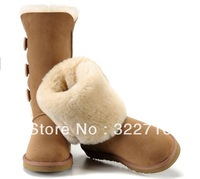 Lover Designer fashion high-leg botton men's women's winter snow boots shoes leather cow muscle outsole