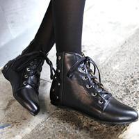 Autumn Women Short Boots British Style Vintage Winter Flat Heel Ankle Boots 2014 Rivet Martin Boots SRXZ1037