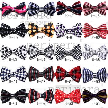 Mens Neck Bowtie Bow Tie Pre-Tied Adjustable Fashion Cotton Mix Plaid Bow Tie Free Shipping 100 pcs