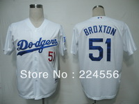 Free Shipping Wholesale&Retail Authentic Los Angeles Dodgers #51 Jonathan Broxton Baseball Jersey,Embroidery Logo,Mixed Order